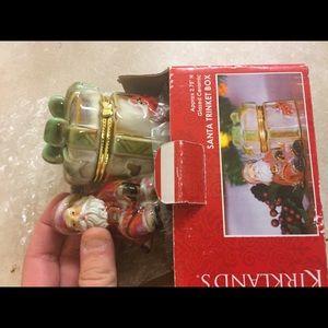 Santa with gift trinket box new in box